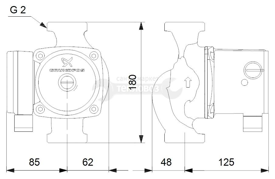 Grundfos 95906443 (52588432) UPS 32-80