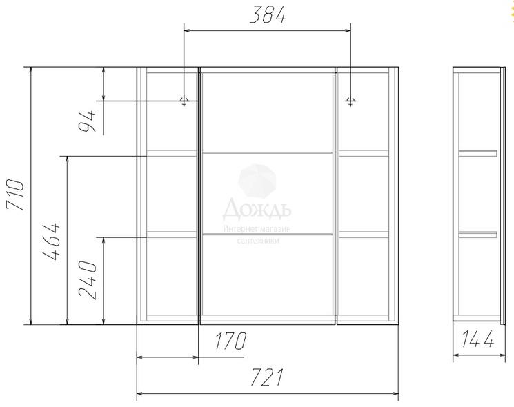 Купить Домино Идеал Оскар 70 Нова, 72 см, белый в интернет-магазине Дождь