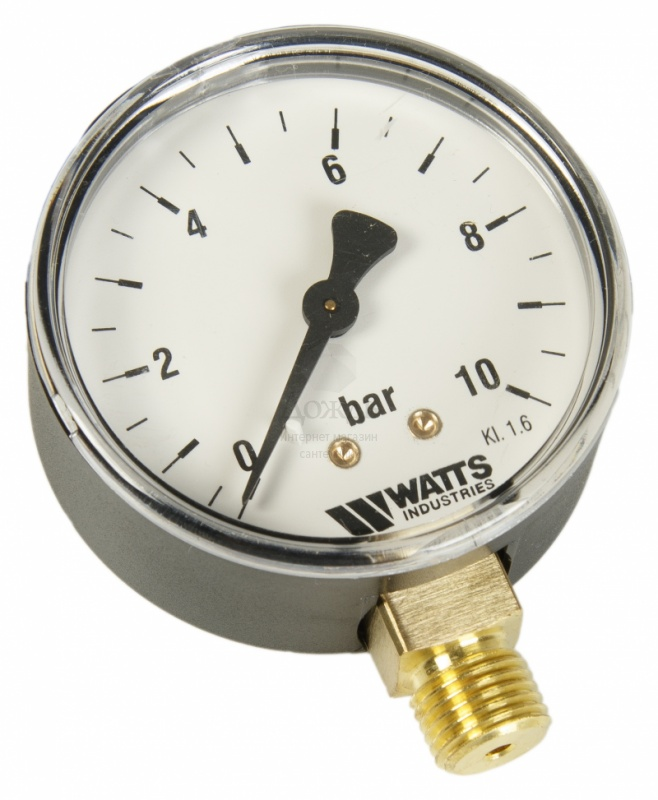 "Купить Watts 0318210 MDR 63/10, нр 1/4""х10 бар (63 мм) в интернет-магазине Дождь"