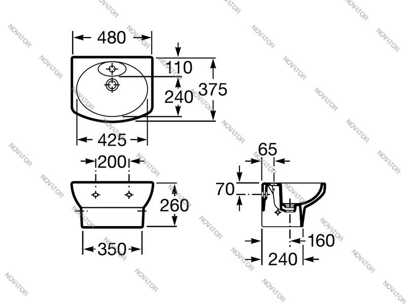 Roca Dama Senso Compacto 327514000, 48 см