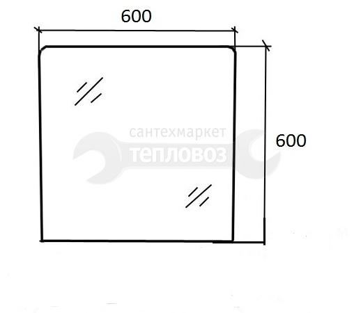 Зеркальные грани 05832, 60 см
