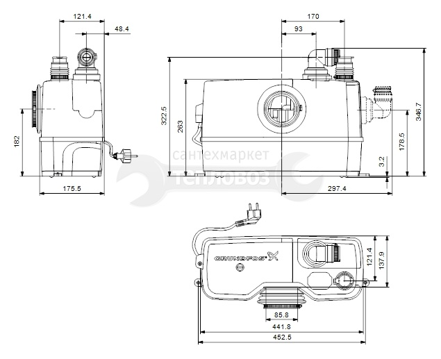 Grundfos Sololift 2 WC-1, 97775314