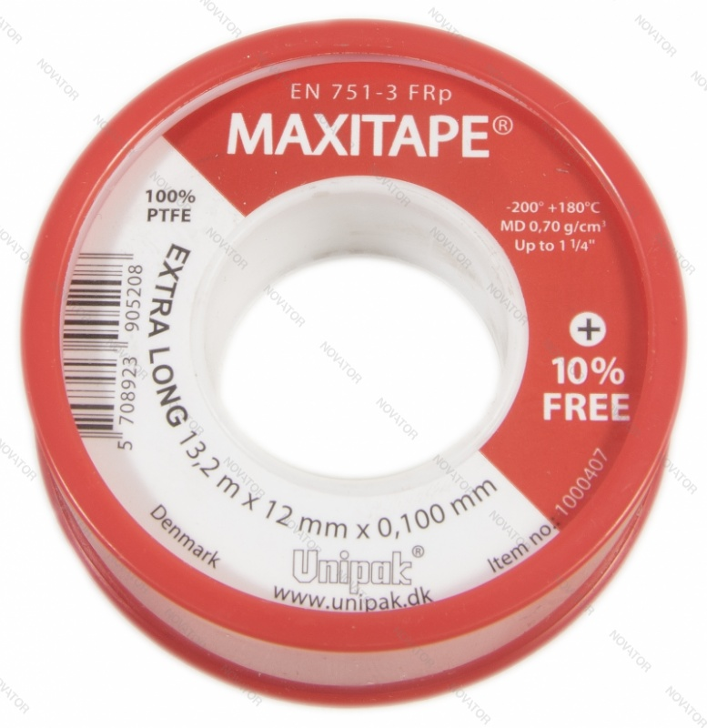 Unipak Maxitape, 12мм х 0,1мм х 12м