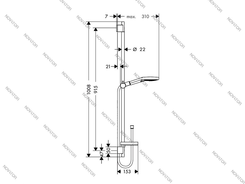 Hansgrohe Raindance Select S 120 3jet/Unica 26631000