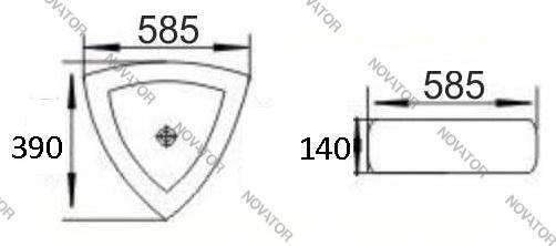 Nova ART 8233А, 58,5 см