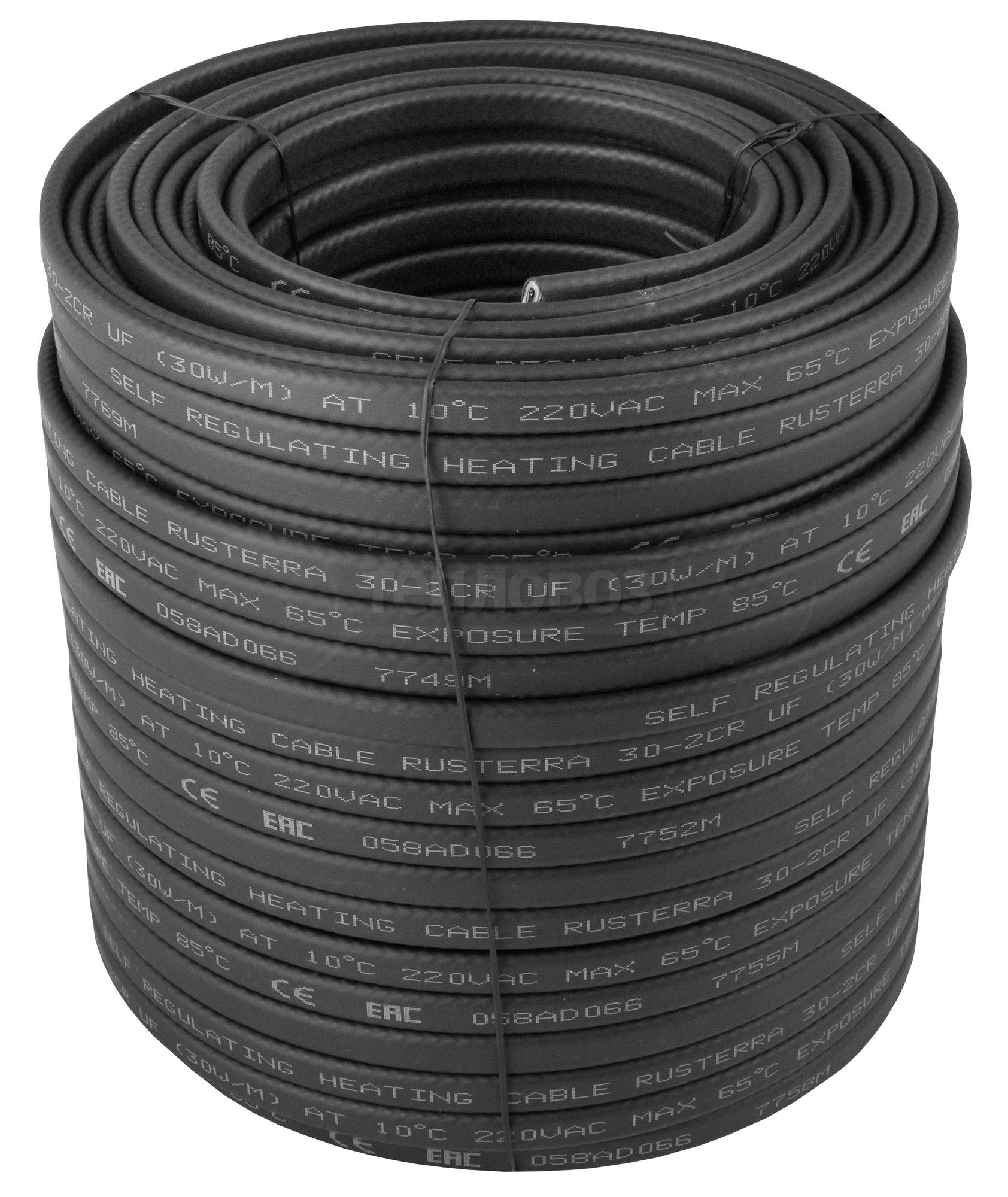 Rusterra 30-2CR UF кабель саморегулирующийся (1м)