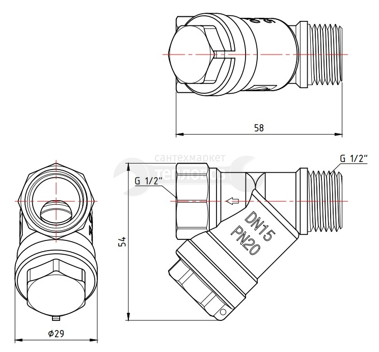 "Valtec VT.191 вр-нр 500 мкм 1/2""(15)"