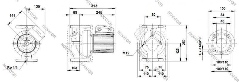 Grundfos 96401942 UPS 40-120 F