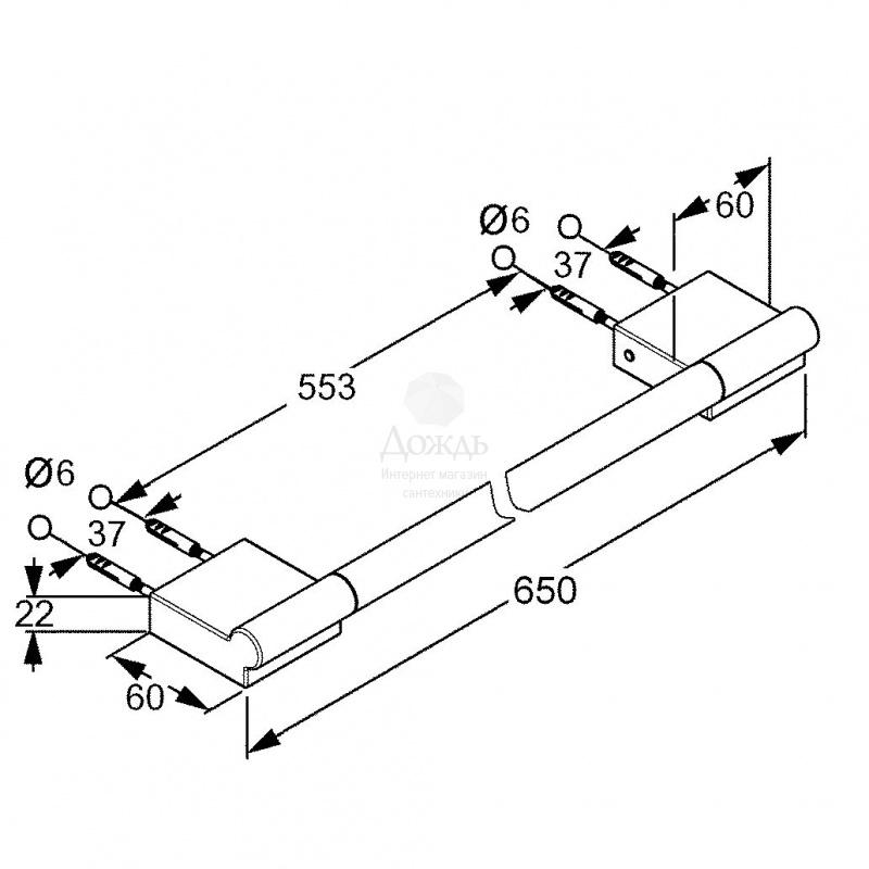 Купить Kludi A-XES 4898005, 65 см в интернет-магазине Дождь