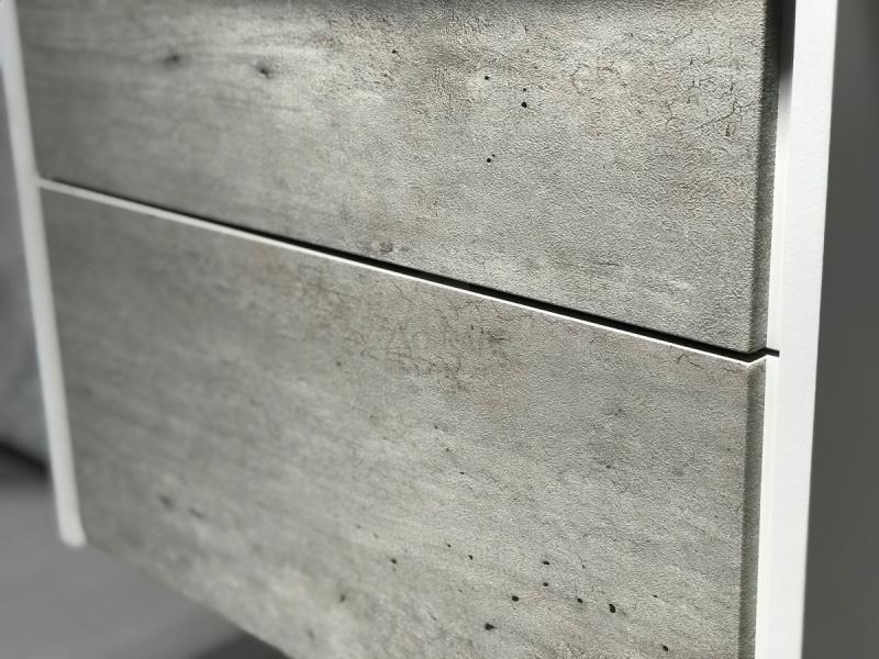 Купить ROCA RONDA ZRU9303004 80 см, бетон/белый в интернет-магазине Дождь