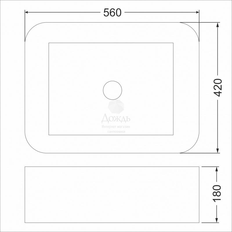 Купить COFFER ART A424, 56см в интернет-магазине Дождь
