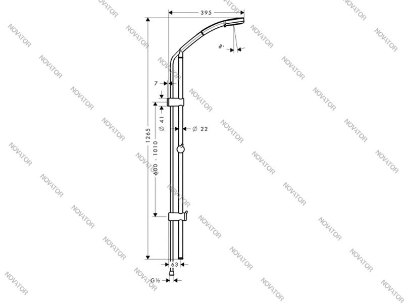 Hansgrohe Croma 100 Vario/Unica`C 27772000