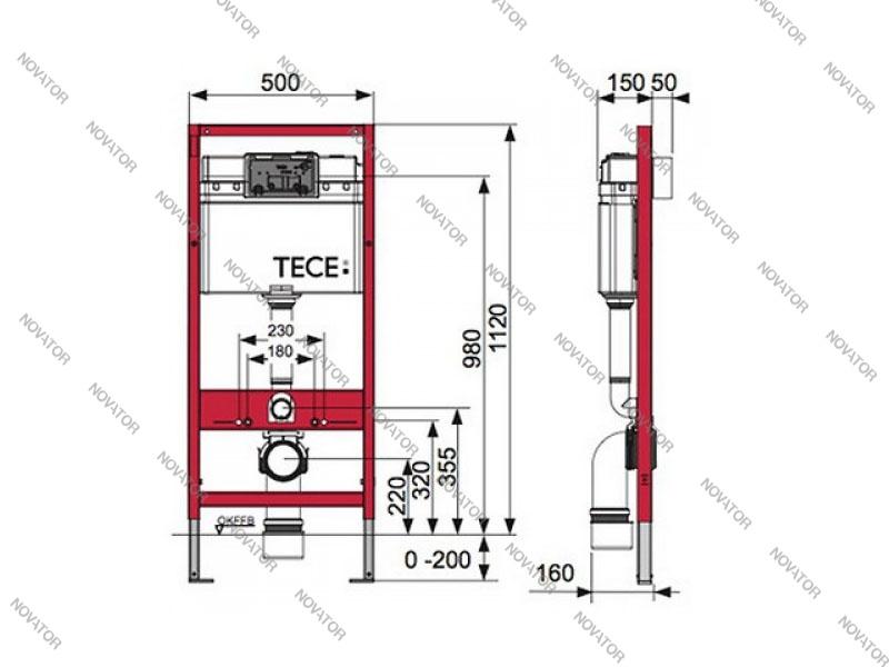 TECEbase KIT 9400005, хром