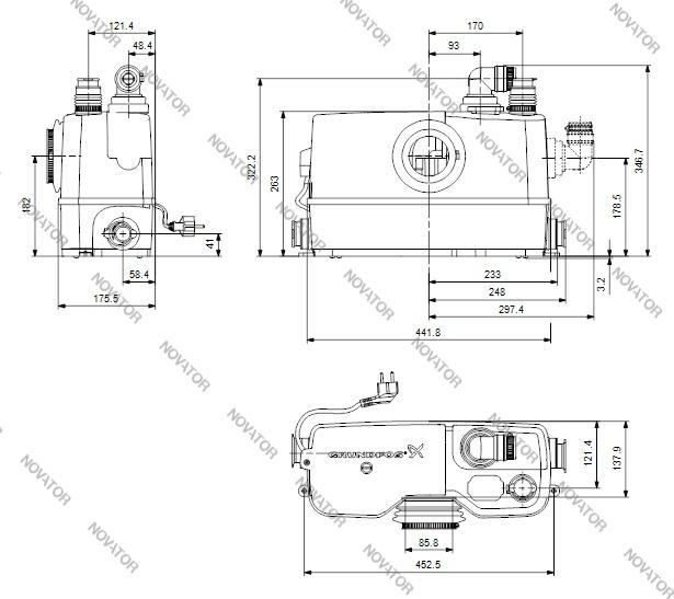 Grundfos Sololift 2 WC-3, 97775315