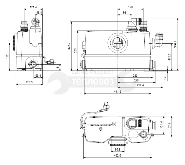 Grundfos Sololift 2 WC-3, 97775315