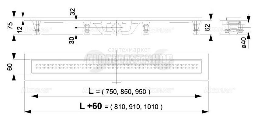 Alcaplast Simple APZ9-950M