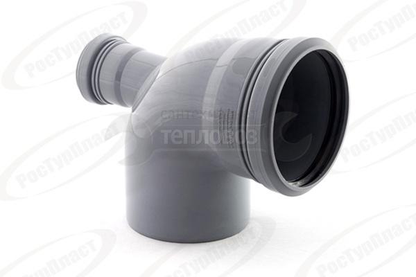 РосТурПласт 110 мм, 87,5°, с фронтальным патрубком 50 мм