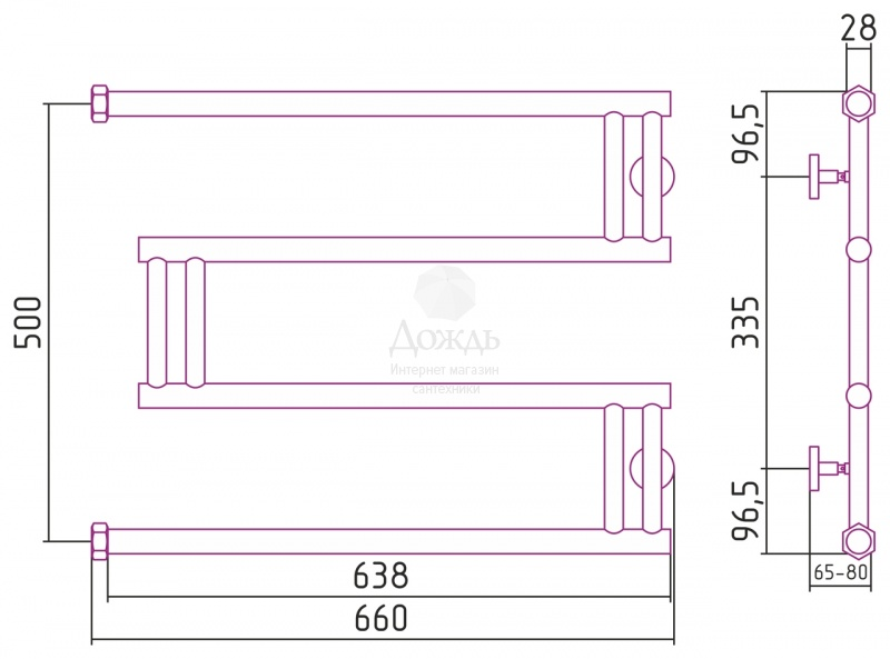 Купить Сунержа High-Tech M 00-0050-5065 (1500), 50х65 см в интернет-магазине Дождь