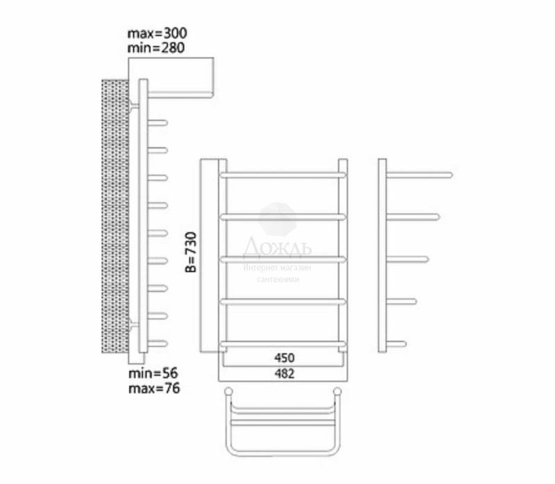 Купить Terminus Полка 32/20 П5, 73х45 см в интернет-магазине Дождь