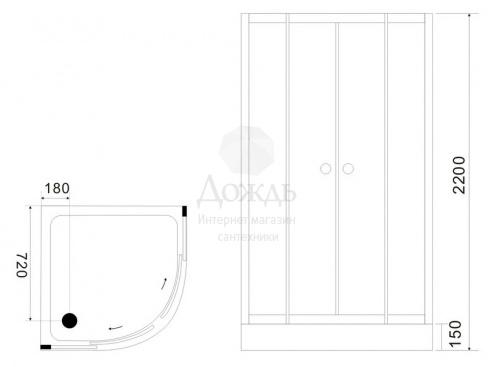Купить BLACK & WHITE G5701, 90х90 см в интернет-магазине Дождь