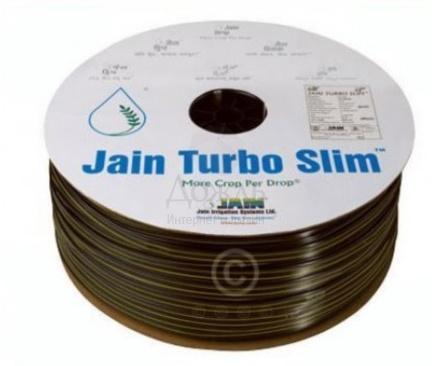 Купить Jain Turbo Slim-TE 6 mil, шаг 40/ 1,2 л/ч бухта 200 м в интернет-магазине Дождь