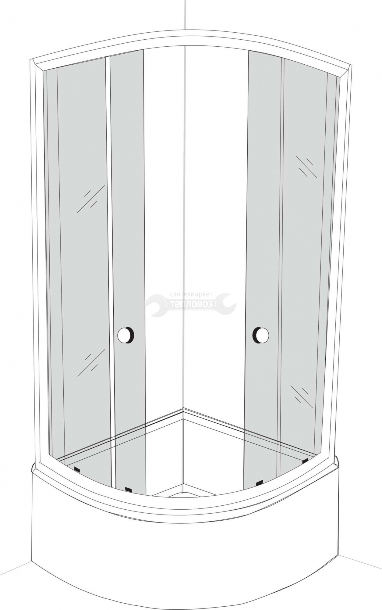 Galletta 310 90R WD-ST-01, 90х90 см