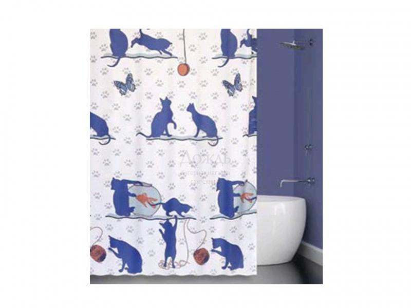 Купить Bath Plus Cat And Fish 21237/0-P, 180х200см в интернет-магазине Дождь