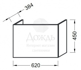 Купить JACOB DELAFON ODEON UP EB886-N18 65см, белый в интернет-магазине Дождь