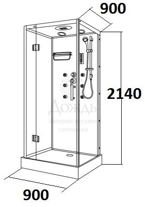 Купить Maroni Ravenna WLA-032S, 90х90 см в интернет-магазине Дождь