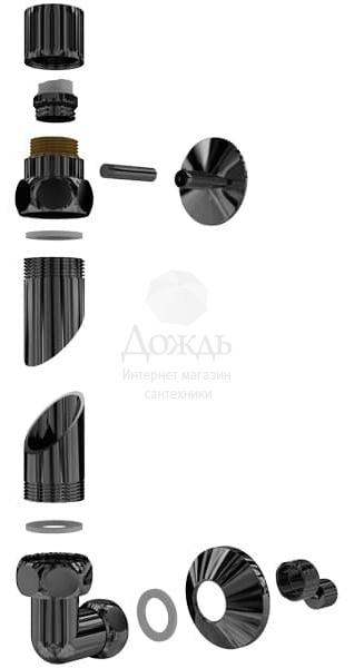Купить Двин F Primo 60х50см, черный матовый в интернет-магазине Дождь