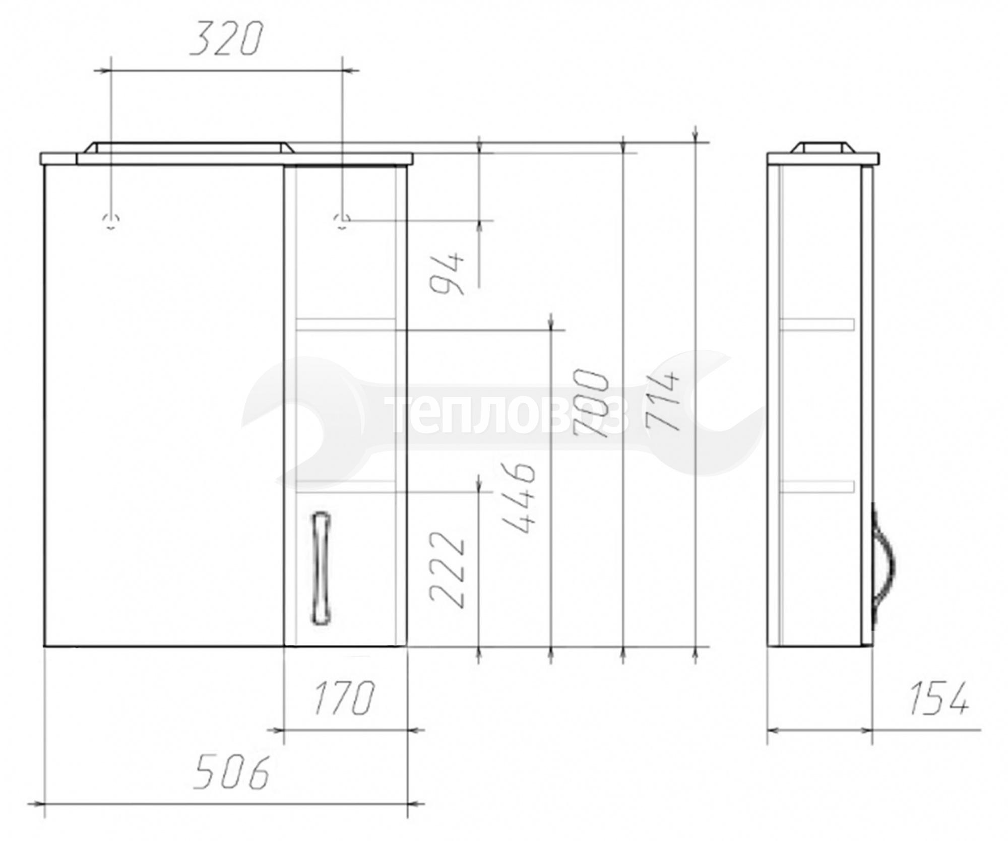 Домино Идеал Блик 50 DI44138HZ, 50 см