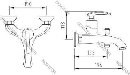 Coffer Axco MS-B2303, бронза