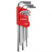 Купить Зубр Мастер 27460-2_z02, Cr-V, HEX 1,5-10 мм, длинные, 9 предметов в интернет-магазине Дождь
