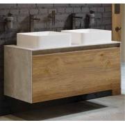 Купить Aqwella Mobi MOB0112BS, 120 см, бетон светлый / дуб балтийский, 2 раковины в интернет-магазине Дождь