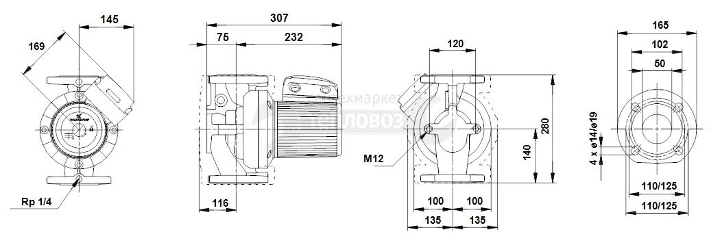 Grundfos 96402103 UPS 50-120 F