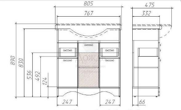 Купить Домино Rich 81см, белый в интернет-магазине Дождь