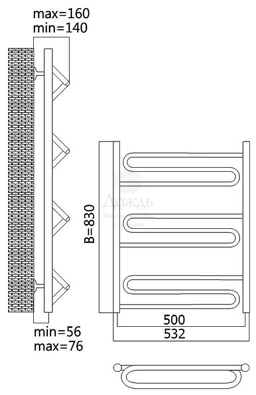 Купить TERMINUS ЮПИТЕР 32/20 П9, 79,6х50 см в интернет-магазине Дождь