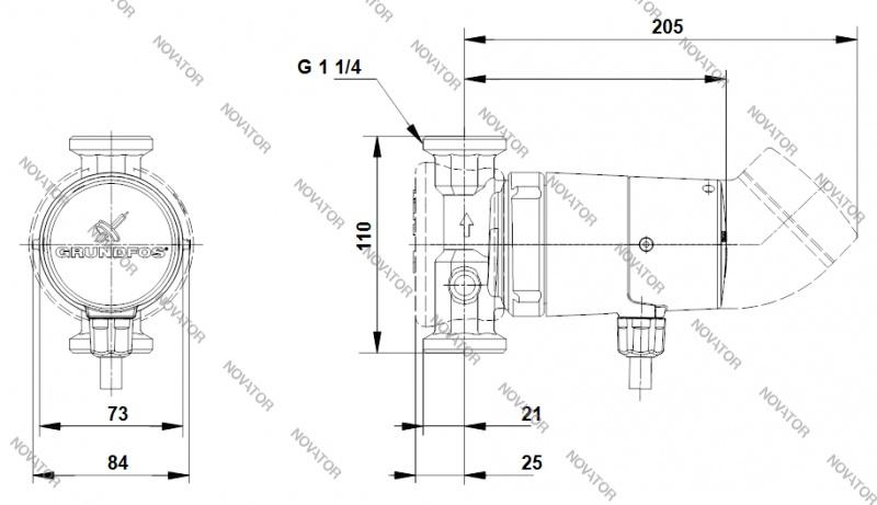 Grundfos 96433888 UP 20-14 ВХU