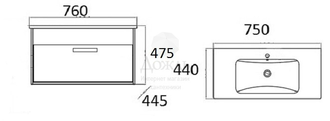 Купить Sanflor Ванесса 76 см, белый в интернет-магазине Дождь