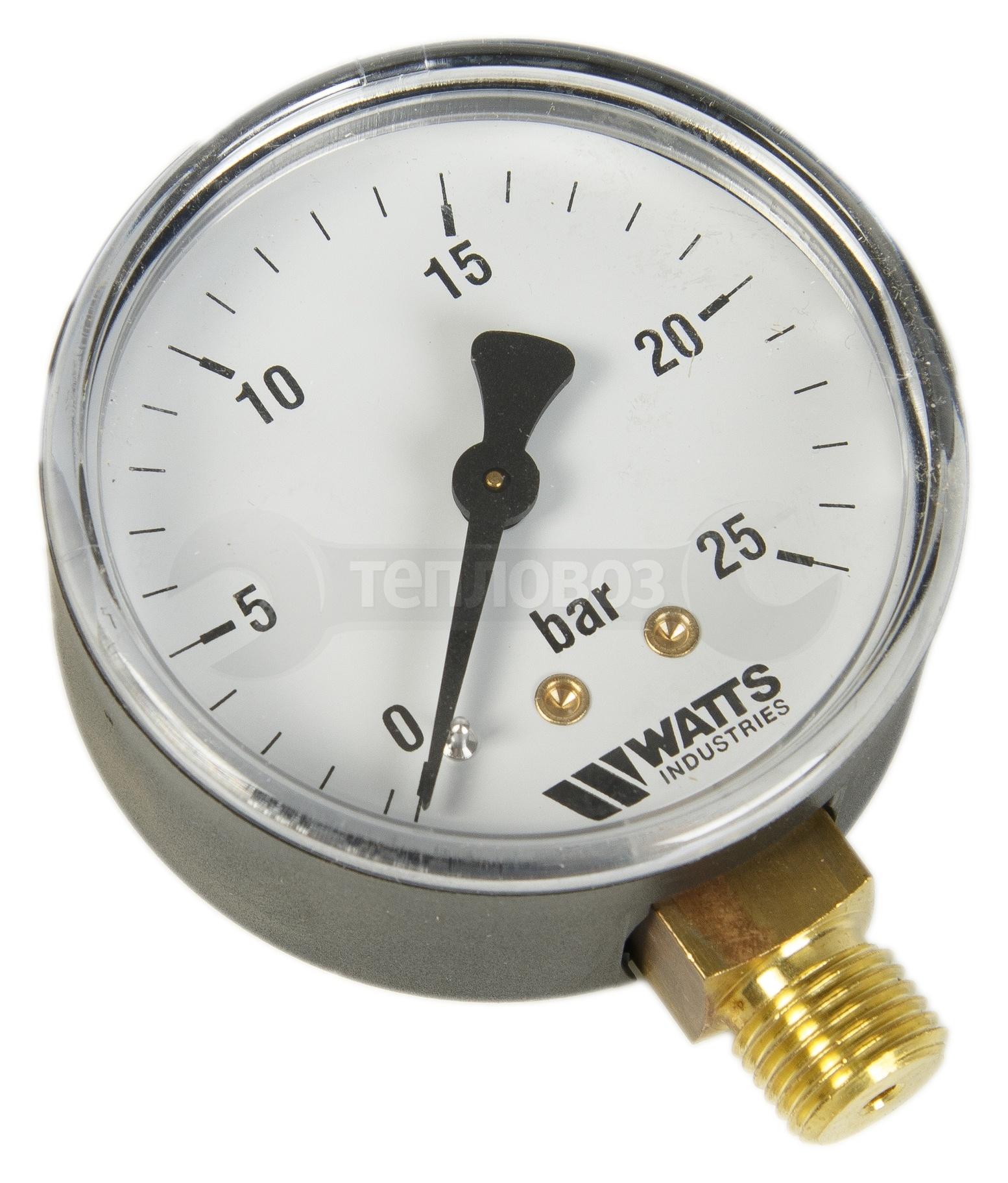 "Watts 0318225 MDR 63/25,1/4""х25 бар (63 мм) нр"