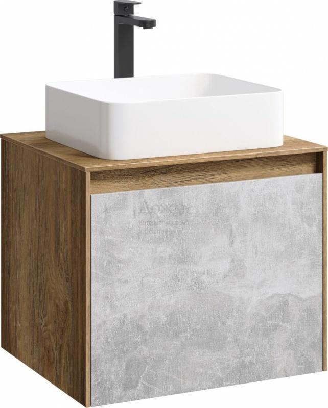Купить Aqwella Mobi MOB0106DB, 61 см, бетон светлый / дуб балтийский в интернет-магазине Дождь