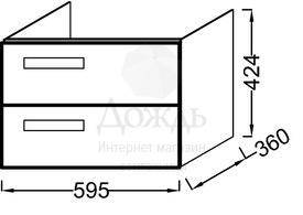 Купить Jacob Delafon Rythmik EB1300-N18 59,5 см, белый в интернет-магазине Дождь