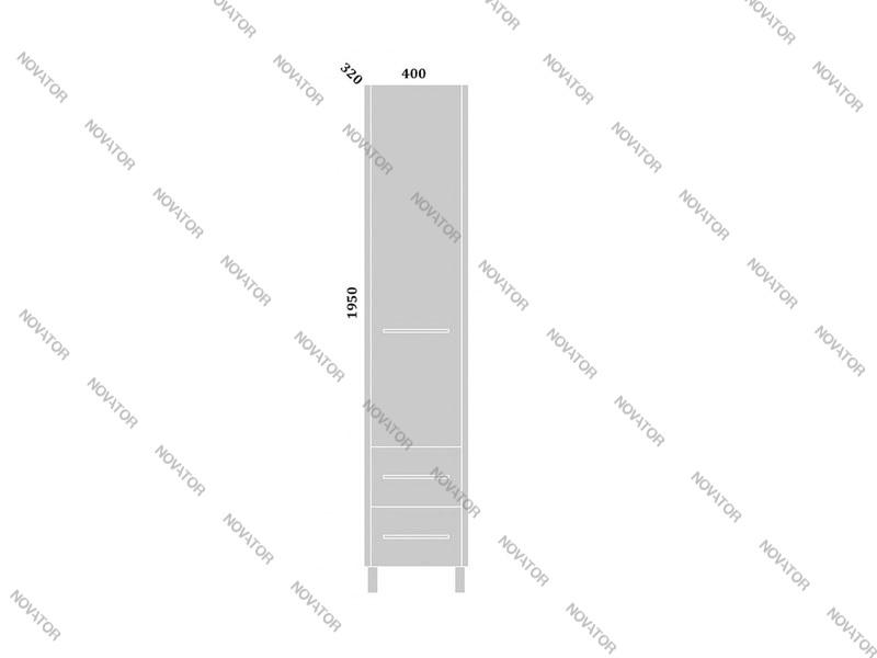 Sanflor Ларго R 40 см, вяз/белый