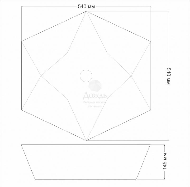 Купить COFFER ART A482A,54см в интернет-магазине Дождь
