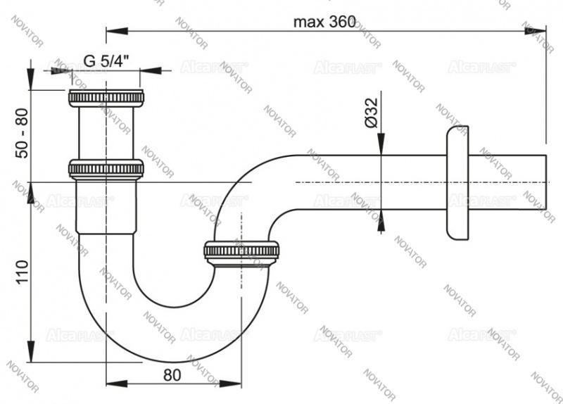 Alcaplast A45E, хром