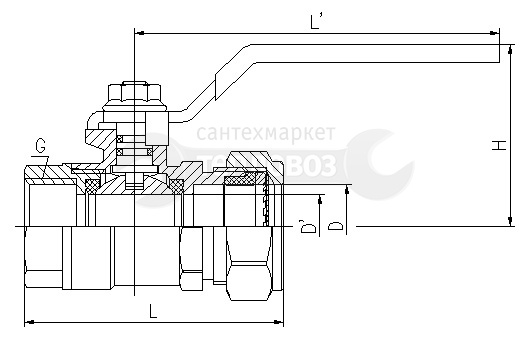 "Lavita P*FL(C), Plated Nickel, 15х1/2"", ручка, вр"