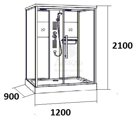 Купить MARONI SIRACUSA SLA-017S, 120х90 см в интернет-магазине Дождь