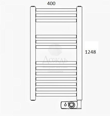 Купить Atlantic 850308 NW 124х40 см, белый в интернет-магазине Дождь