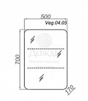 Купить Aqwella Vega 50 см, дуб сонома в интернет-магазине Дождь