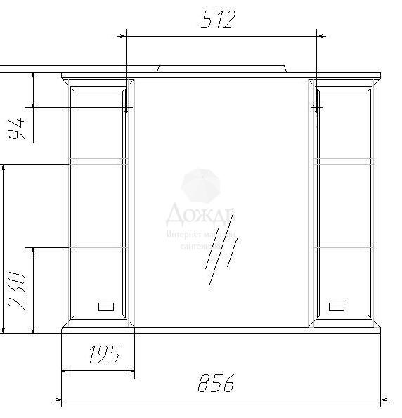 Купить Домино Элегант-Люкс 85см, белый в интернет-магазине Дождь